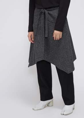 Deveaux Wool Herringbone Tie Apron