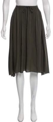 Raquel Allegra Shirred Drawstring Knee-Length Skirt w/ Tags