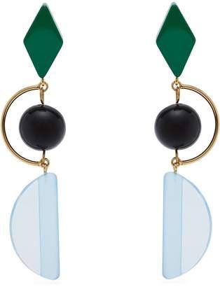 Marni Long resin and metal hook earrings