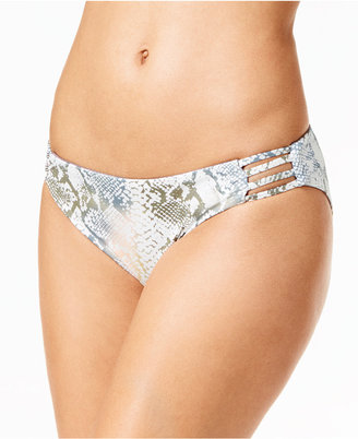 Roxy Strappy Love 70s Reversible Printed Bikini Bottoms $42 thestylecure.com