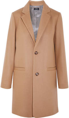 A.P.C. Carver Wool-blend Coat - Camel