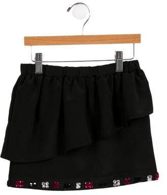 Milly Minis Girls' Embellished Peplum Skirt w/ Tags
