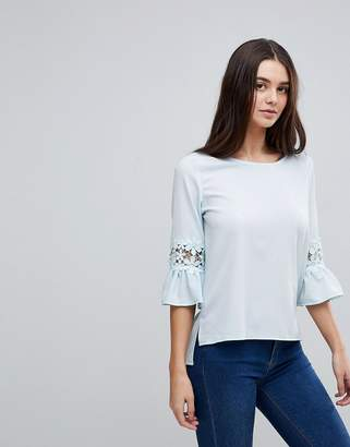 AX Paris 3/4 Sleeve Top With Lace Detail