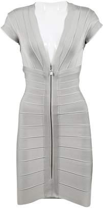 Herve Leger Silver Viscose Dresses