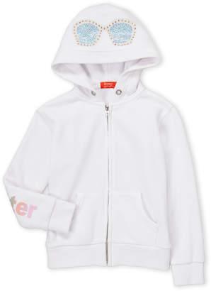 Butter Shoes Girls 4-6x) White Summer Emoji Fleece Hoodie