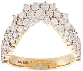 Ana Khouri 18kt gold V-shaped ring