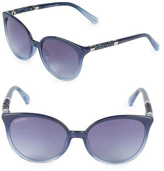 Swarovski Women's 56MM Crystal Square Sunglasses