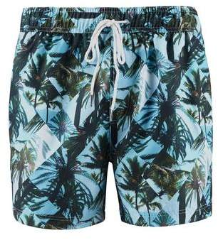 Burton Mens Threadbare Palm Puzzle Swim Shorts*
