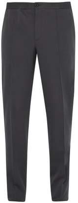 Lanvin Mid Rise Slim Fit Cotton Trousers - Mens - Grey
