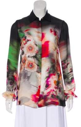 Elie Saab Silk Button-Up Blouse