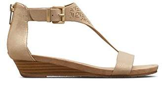 Kenneth Cole Reaction Women's Gal 3 Perf Low Wedge T-Strap Sandal