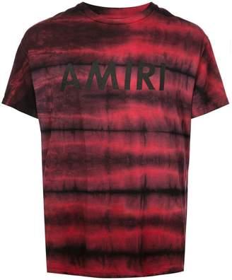 Amiri logo print tie-dye T-shirt