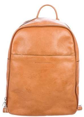 Brunello Cucinelli Leather Zip Backpack