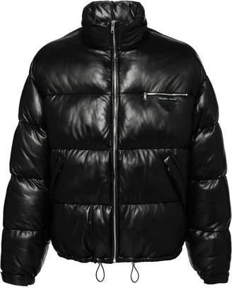 Prada Nappa leather puffer jacket