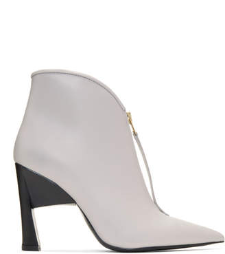 Marni Grey Pointed Half Boots