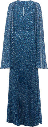Luisa Beccaria Long Evening Printed Flowers Dress. Size: 38