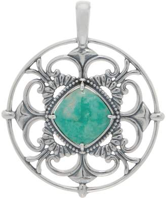 American West Reversible Gemstone Sterling Silver Pendant