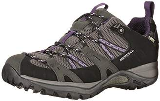 Merrell Women's Siren Sport Gtx Low Rise Hiking Shoes, Black (Black/Perfect Plum), 4. (37.5 EU)