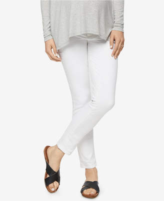 Paige Maternity White Wash Skinny Jeans