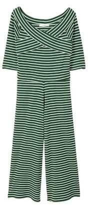 MANGO Striped cotton jumpsuit