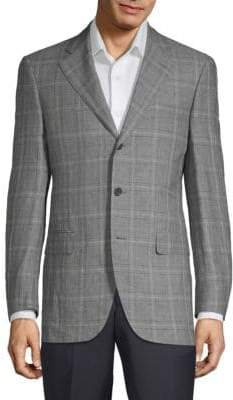 Caruso Large Windowpane Jacket