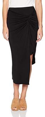 Kensie Women's Knot Wrap Asymmetrical Knit Skirt