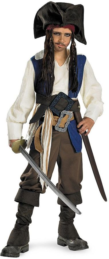 Disney Pirates of the Caribbean 4: On Stranger Tides Captain Jack Sparrow Costume - Kids'