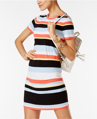 MICHAEL Michael Kors Striped T-Shirt Dress, a Macy's Exclusive Style $88 thestylecure.com
