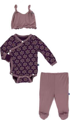 Kickee Pants Ruffle Kimono Newborn Gift Set