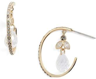 Judith Jack Crystal Hoop Earrings