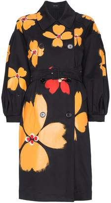 Simone Rocha Floral trench coat