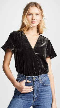 Splendid Velvet Surplice Top