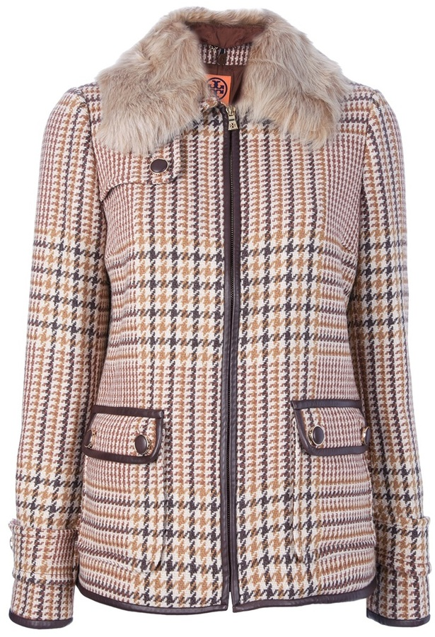 Tory Burch checked jacket