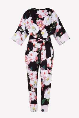 Next Womens Ted Baker Black NEPTONE Kimono Sleeve Jumpsuit
