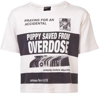 Enfants Riches Deprimes slogan printed T-shirt