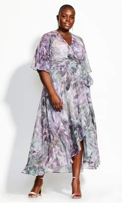 City Chic Citychic Crystal Floral Maxi Dress - crystal