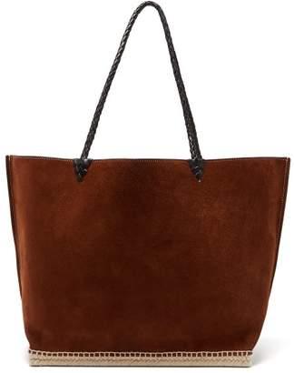 Altuzarra Espadrille Large Suede Tote Bag - Womens - Dark Brown