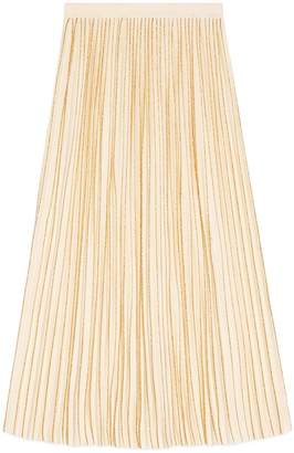 Gucci Pleated mid-length wool skirt