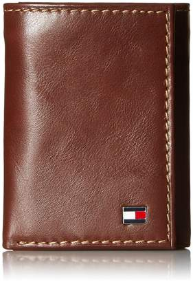 Tommy Hilfiger Men's Logan Trifold Wallet with Zipper
