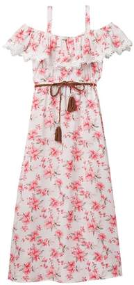 Blush by Us Angels Floral Print Maxi Dress (Big Girls)