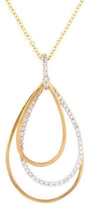 Reiss I. 14K Diamond Teardrop Pendant Necklace