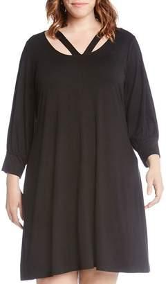 dec8dacef45b2 Plus Size Black Blouson Dress - ShopStyle