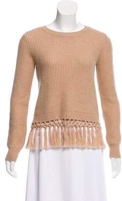 Club Monaco Fringe-Trimmed Wool Sweater w/ Tags
