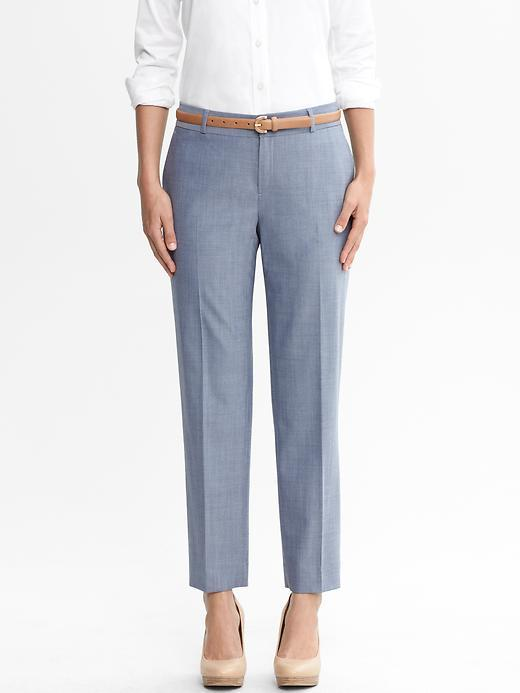 Banana Republic Martin fit blue lightweight wool slim ankle pant