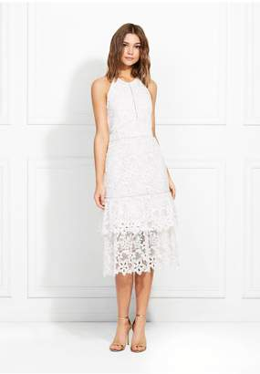 Rachel Zoe Annalise Guipure Lace Midi Dress