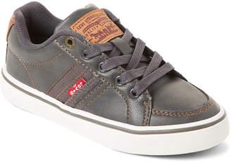 Levi's Toddler/Kids Boys) Charcoal & Tan Turner Low-Top Sneakers
