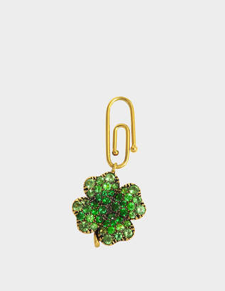 Aurelie Bidermann Fine Jewellery - 18K Gold Clover Pendant With Tsavorites