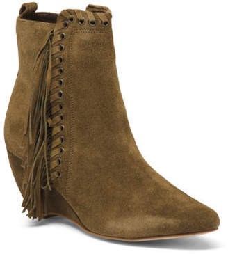 Made In Brazil Suede Pointy Toe Booties