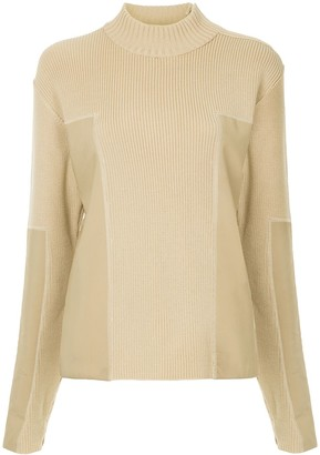 Chanel Pre-Owned panelled turtleneck jumper