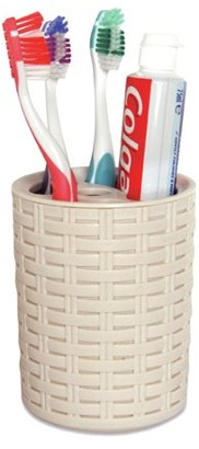BEIGE Superio Toothbrush and Toothpaste Holder